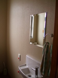 オーダーメイドの鏡です。ジャストサイズ!