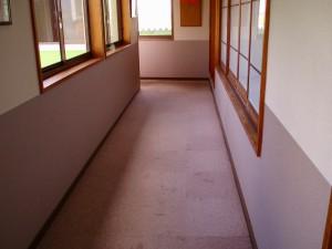 2階の廊下です。まだ剥がしていないと慌てて写真を撮りました。