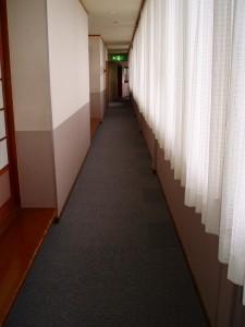 廊下のカーテンも取替完了。